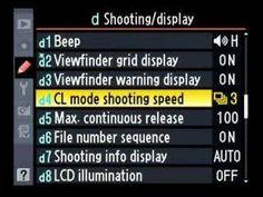 Nikon D300 Advanced menu walk through 2 of 6, tips, tricks