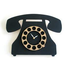 Vintage Style Telephone Clock. $84.00, via Etsy.