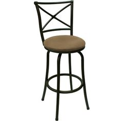 "Mainstays 29"" Swivel X-Back Barstool, Hammered Bronze"