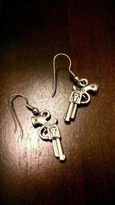 Country women necessity pistol earrings