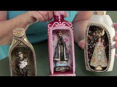 Mini Oratórios feitos de PET - Reciclar com Arte