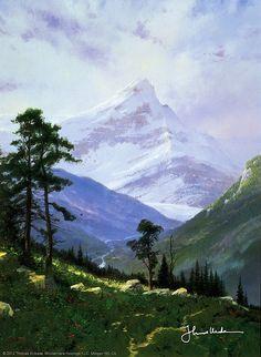 Thomas Kinkade - Spring in the Alps  1994