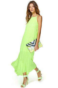 Line & Dot Day Glow Maxi Dress