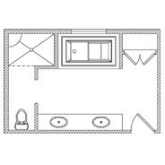 Kohler floor plan options bathroom ideas planning for Bathroom design 9x9