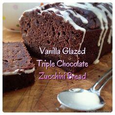 The Dutch Baker's Daughter: Vanilla Glazed Triple Chocolate Zucchini Bread