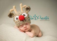 PDF CROCHET PATTERN 023  Reindeer hat by BeezyMomsCreations, $5.00