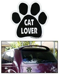 Cat Lover Paw Print Car Magnet at The Animal Rescue Site