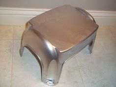"""A chic """"metal"""" step stool"""
