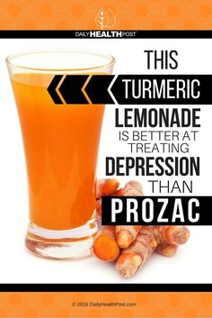 "This Turmeric Lemonade Is Better At Treating Depression Than Prozac via /dailyhealthpost/ | <a href=""http://dailyhealthpost.com/turmeric-lemonade-to-treat-depression/"" rel=""nofollow"" target=""_blank"">dailyhealthpost.c...</a>"