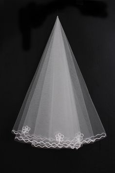 Flower Vintage Blush Wedding Veil with Pearl Beading Sash Circled