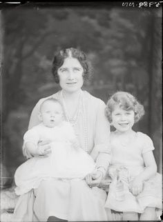 Royal Family Portrait 1931 -- Lilibet, Margaret, and Queen Mum