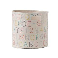 Alphabet Toy Storage Bin -  These canvas bins are sturdy enough to handle toys, shoes, books or whatever you'd like to stash away in a snap. #PNshop