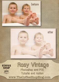 The CoffeeShop Blog: CoffeeShop Rosy Vintage Tutorial