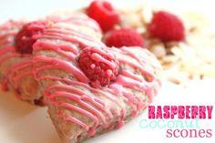 Raspberry Coconut Scones | Created by Diane
