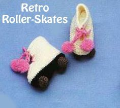 Free Crochet Pattern Baby Hat With Bow : Crochet - Roller Skates ! on Pinterest Rollers, Baby ...