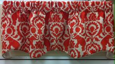 "Ruby Olivia Valance in the color Spice. 50""w x 16""l @ $54.99.To Order Call toll-free 877-722-1100"