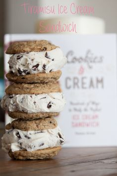 Tiramisu Ice Cream Sandwich + Giveaway - What's Gaby Cooking