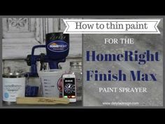 How to thin paint fo