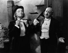 """Marlene Dietrich (with Paul Porcasi) in """"Morocco"""", (Josef Von Sternberg, 1930)"""