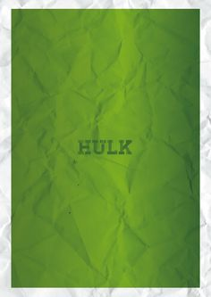 Minimalist poster - HULK