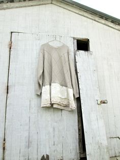 lagenlook / romantic Funky Earthy Sweater Crop Shirt by CreoleSha, $95.00