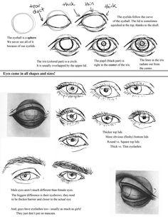Drawing Eyes Worksheet by ccRask.deviantart.com