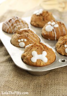 A Yum for the four-legged family member  Apple Crunch Pupcakes - Lolathepitty.com
