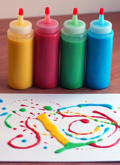 DIY paint. It is so fun and easy. Your kids will have a blast!