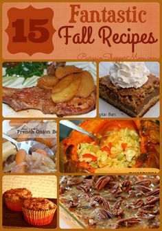 15 Fantastic Fall Recipes - Pumpkin, Apple, Sweet Potato & More