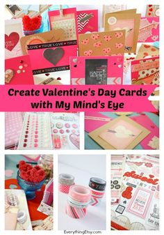 Create Valentine's Day Cards with My Mind's Eye...throw a card making party! :) @Everything Etsy