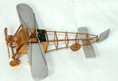 ANTIQUEc 1800's~~wind-up AIRPLANE TAPE MEASURE & PIN CUSHION~~ FIGURAL,METAL,