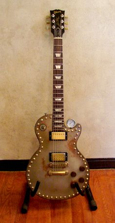 Gibson Les Paul given the steampunk treatment
