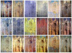 """Monet - """"Catedral del Rouen"""" (Estudio) / Impresionismo. Registrar los cambios de luz sobre un mismo objeto."""