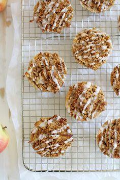 Mini Iced Oatmeal Cookie Apple Pies   girlversusdough.com @stephmwise