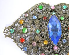 Art Deco Czech Glass Brooch