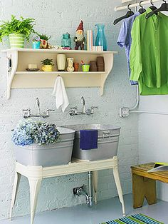 great mudroom sinks! or laundry room! or a lake house kitchen!
