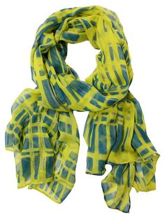 Check Me Out Scarf, Blue/Green | Congrats, Grad! | One Kings Lane