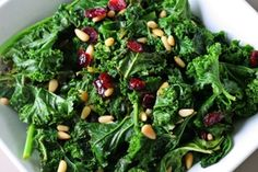 This salad helps boost thyroid function and increase your energy. Kale, rich in vitamin a, is essential to thyroid. Add carrots, kelp flakes and sunflower seeds, then top with tahini and pinch of celtic salt.