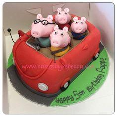 Peppa Pig cake. So cute!
