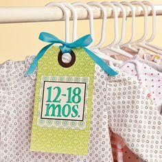 Baby's Closet Tags - OrientalTrading.com