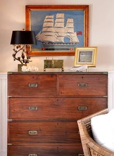 .Love the campaign chest, ship, and know it would work in my Beach house!