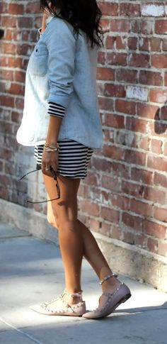 chambray and stripes outfit