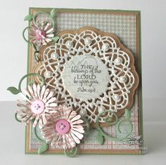 Stamps - Our Daily Bread Designs Birthday Doily, ODBD Custom Fancy Foliage Die, ODBD Custom Doily Die, ODBD Custom Asters and Leaves Die, Soulful Stitches Paper Collection