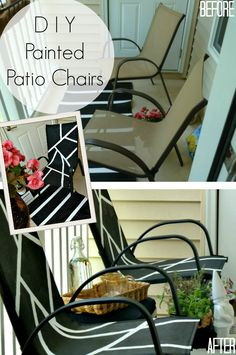 DIY Painted Patio Chairs | Abstract Art Inspired