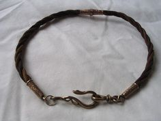 wonderful Victorian hairwork fob chain