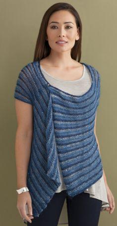 Vivienne Striped Cardigan in CELINE, LUNA, STELLA & CRYSTAL http://tahkistacycharles.com/t/pattern_single?products_id=2212