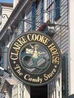 Signage - Clarke Cooke House - Newport, RI         #VisitRhodeIsland