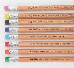Andy Warhol Philosophy Pencils
