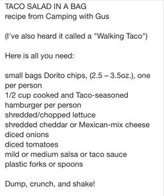 Walking Taco...camping idea?