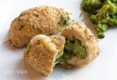 Broccoli and Cheese Stuffed Chicken -- Only 192 calories per serving.